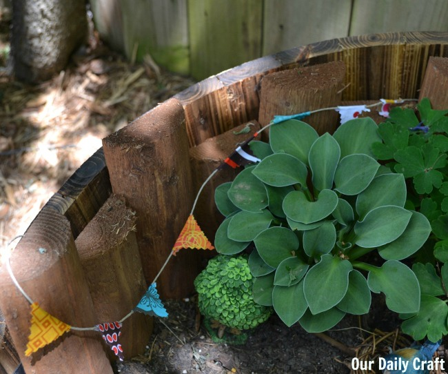 Make a Mini Bunting for Your Fairy Garden {Or Whatever Else}