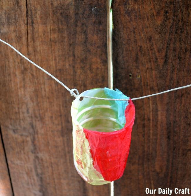 tissue paper plastic lantern