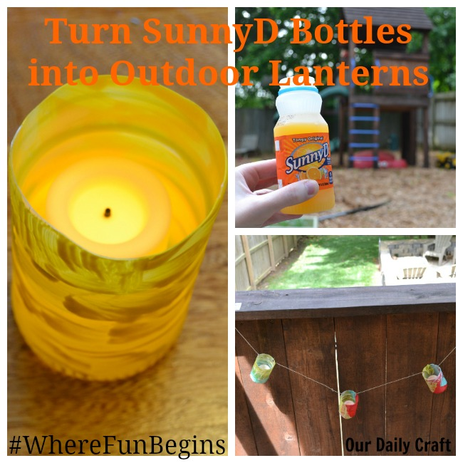 Make Plastic Bottle Lanterns from SunnyD Bottles