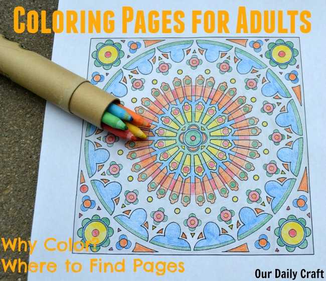 Get Your Creativity Back with Coloring Pages for Adults