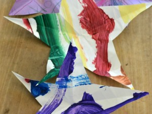 paper stars kids art
