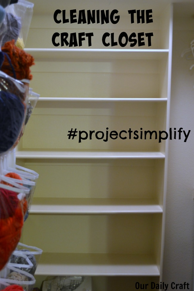 Cleaning the Craft Closet, a #projectsimplify Update