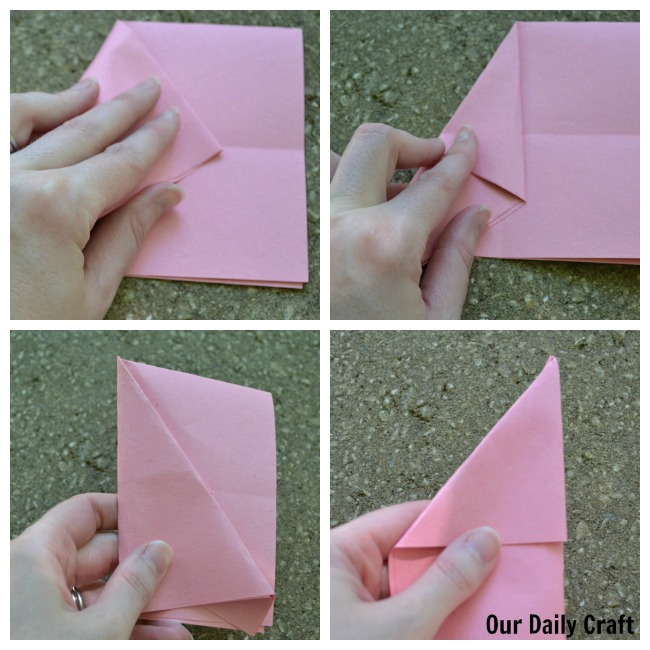 how to fold paper to make a star with one cut