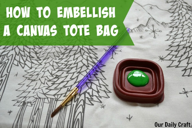 How to Embellish a Canvas Tote Bag