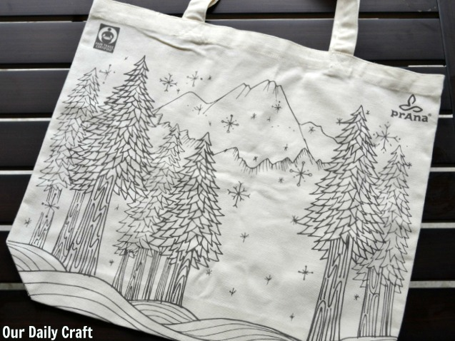 canvas tote bag painting