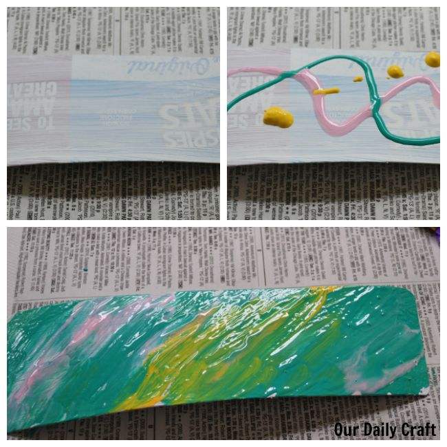How to make a bookmark from a paperboard box.