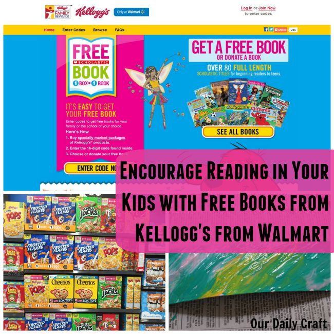 Get free Scholastic books when you buy select Kellogg's products from Walmart!