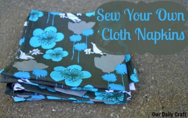 Sew your own cloth napkins with just a bit of fabric, and a bit more time at the iron.