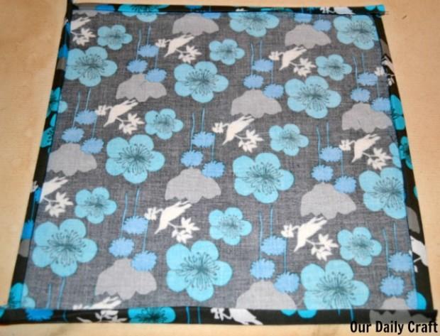 ironed edges of cloth napkins
