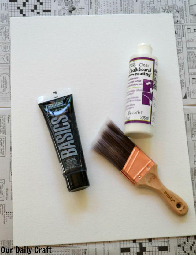 diy chalkboard materials