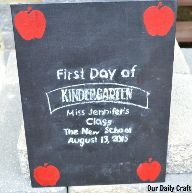 chalkboard sign for back to school