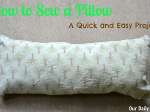 How to sew a quick and easy pillow from scrap fabric
