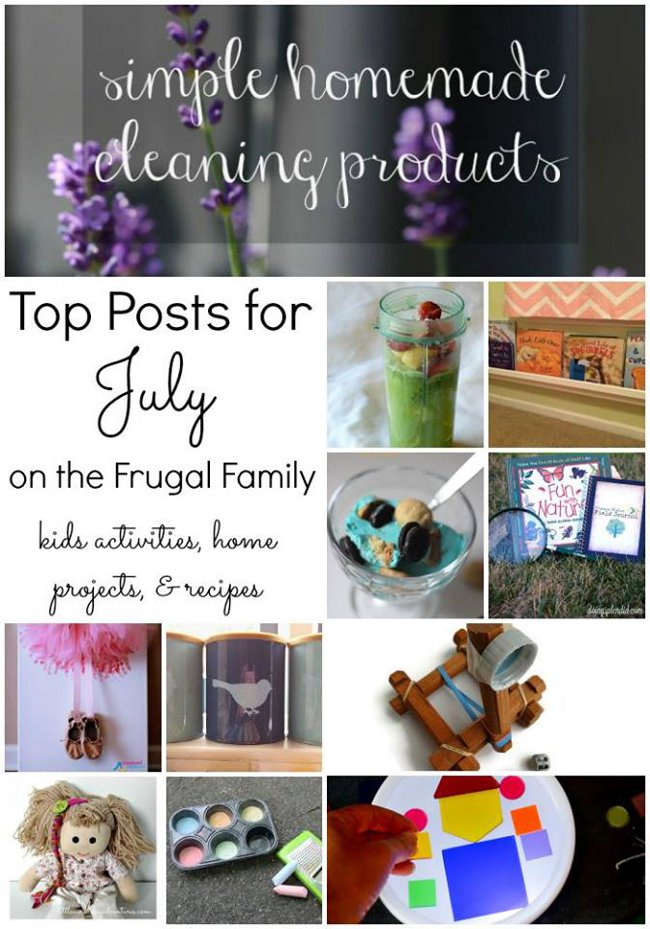 july top posts frugal family linky