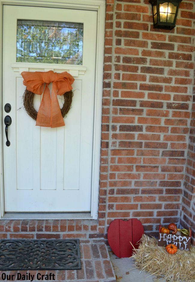fall decor porch
