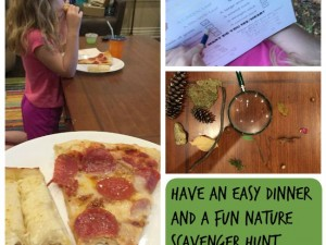 Have easy family fun even on a school night with pizza from Sam's an a fun nature walk