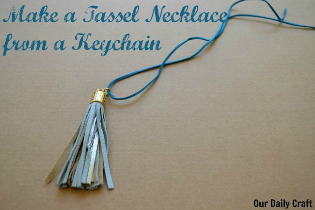 Make a Tassel Necklace from a Keychain
