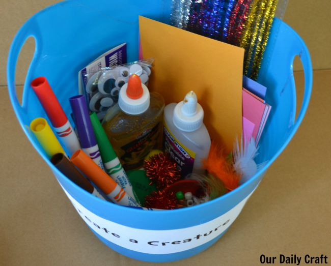 create a creature supplies container