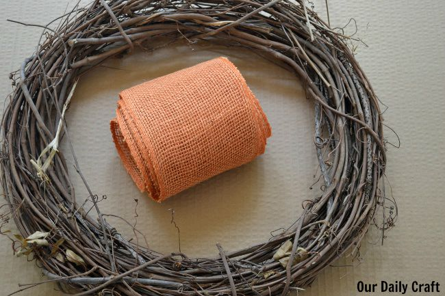 supplies for burlap bow