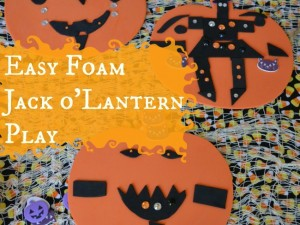 easy foam jackolantern play craft