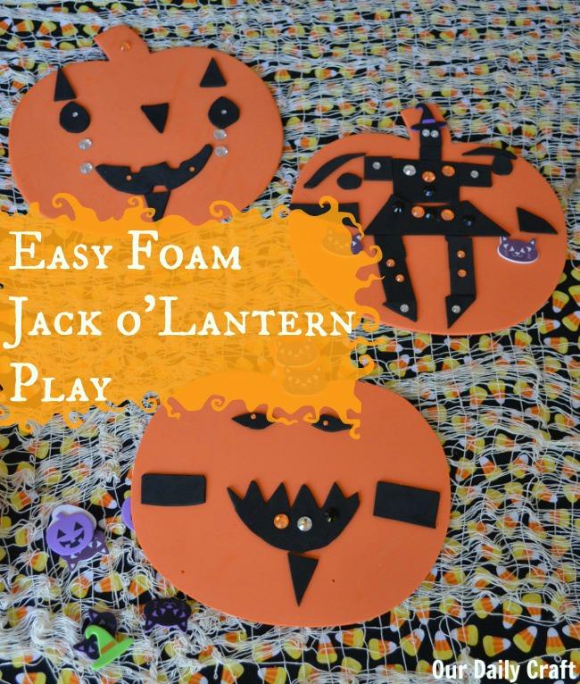 easy foam jackolantern play craft