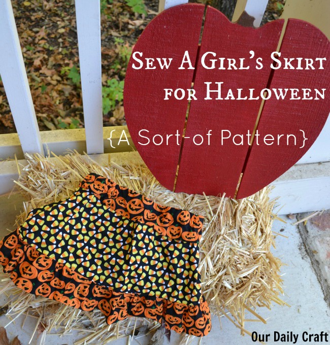 sew a girl's halloween skirt