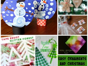 get crafty with your kids with these great DIY ornament and Christmas craft ideas