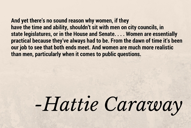 women in leadership hattie caraway