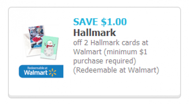 Save on two Hallmark holiday cards at Walmart