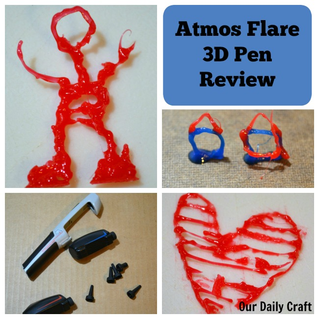 The Atmos Flare 3D drawing pen is fun to play with, but there's definitely a learning curve