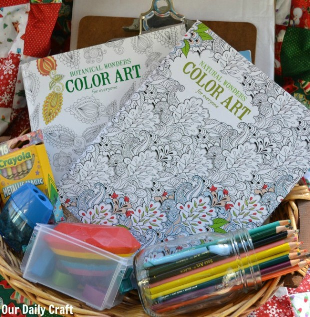 coloring basket for adults
