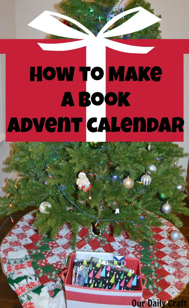 make a book advent calendar to celebrate the season