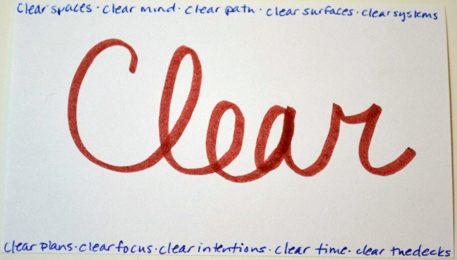 how i can get clear in 2016