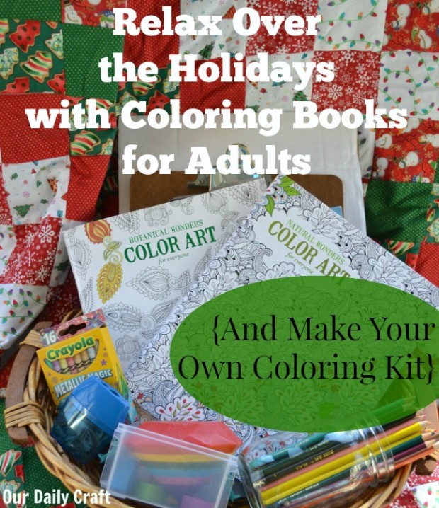 Stock up on coloring books for adults and make a coloring station for the holidays