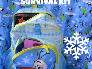 make a snow day survival kit to celebrate snow days