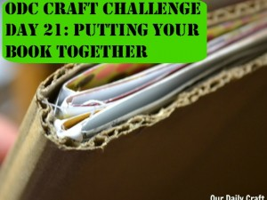 Put your art journal together and get started decorating the cover.