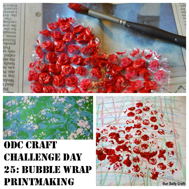 Printmaking with bubble wrap is a fun and easy craft for all ages.