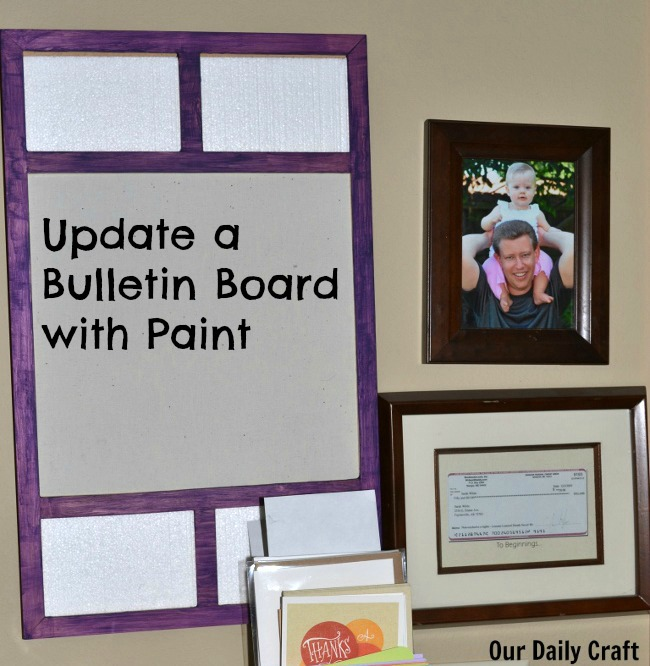 Update an old bulletin board by painting it