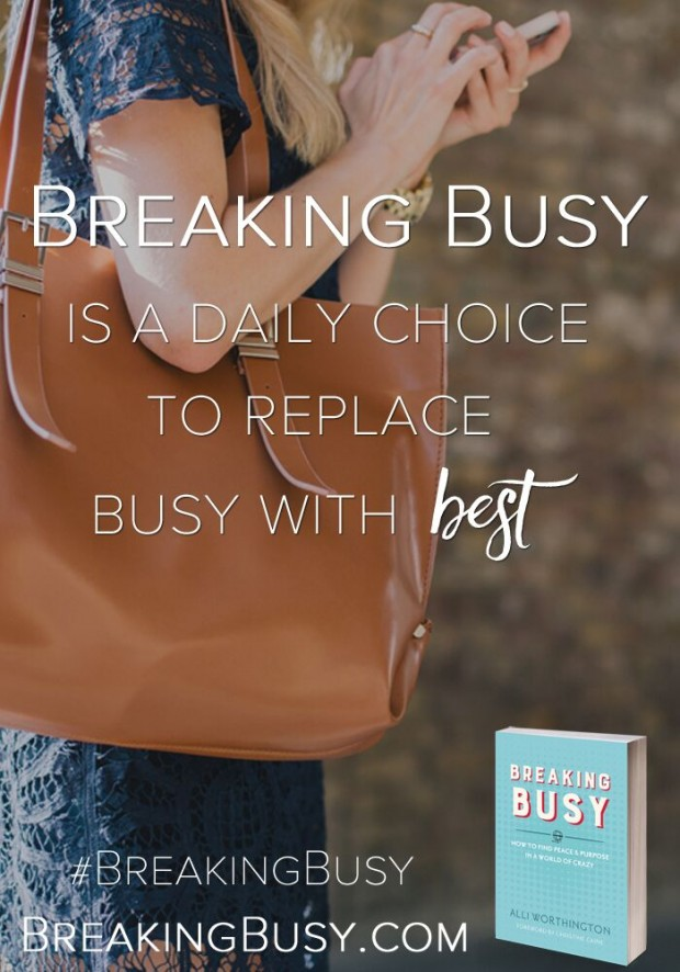 breaking busy quote