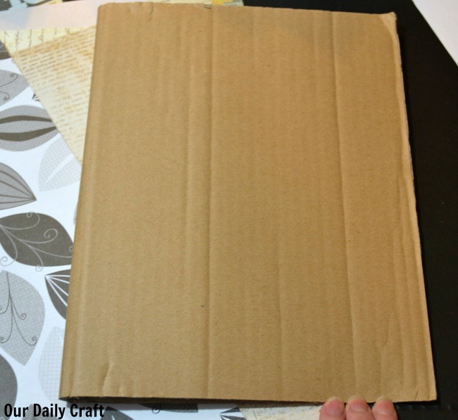cardboard cover art journal