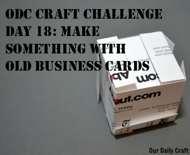 Make Something with Old Business Cards
