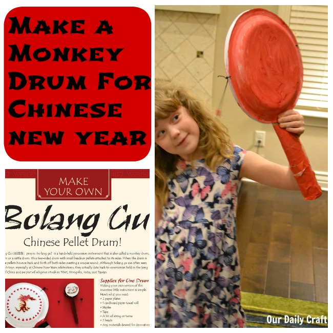 How to make a monkey drum for Chinese New Year.
