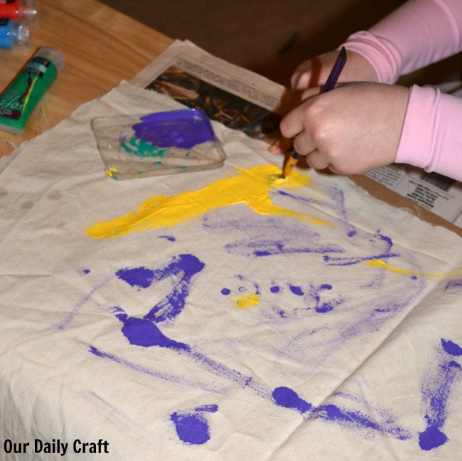 painting with fabric paint
