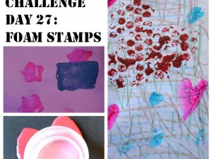 Make stamps out of foam sheets to decorate lots of projects