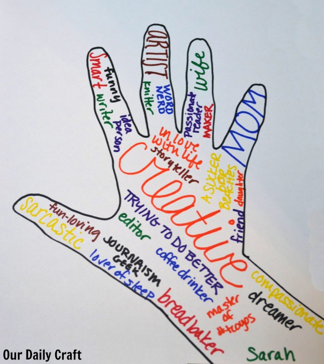 autobiographical handprint art