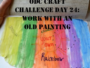 Use an old painting to make a new art journal page or other creation.