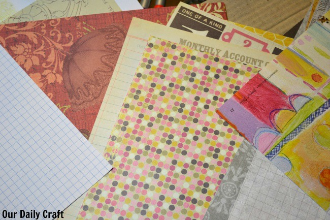 paper options diy art journal