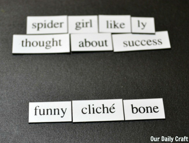 magnetic poetry play