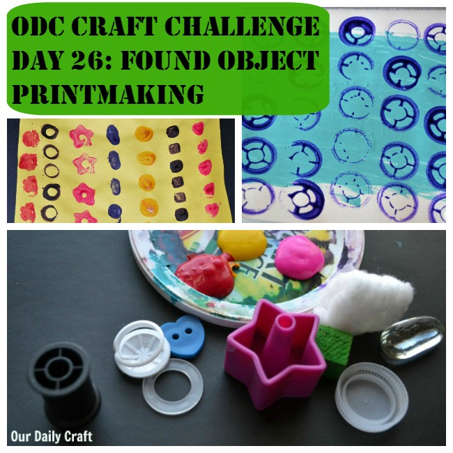 Found object printmaking is a quick and easy way to create with whatever you have.