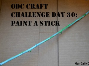 Paint a stick for an easy, fun creative challenge inspired by nature