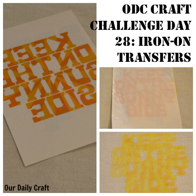 Try An Iron-On Transfer